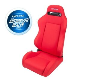 Nrg Type R Cloth Sport Seat Red W Red Stitch Pair