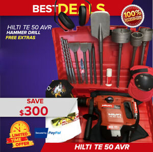 Hilti Te 50 Hammer Drill Preowned Free Extras Bits Extras Fast Ship