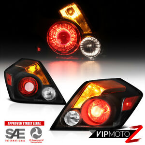 For Nissan Altima 4d Sedan Se r 2007 2012 Pair Black Taillights Brake Right Left