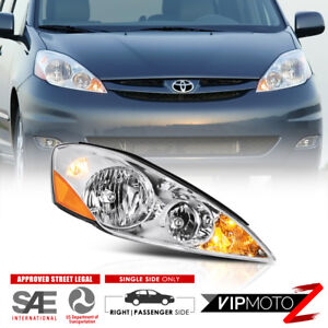 passenger Side For 06 10 Toyota Sienna Right Factory Style Headlights Headlamp