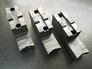 Huron Machine Products Stepped Soft Top Jaws Lathe Scroll 12 Chuck 3 Piece Set