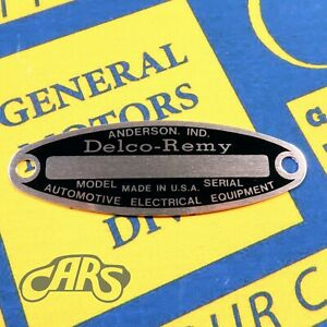 1927 1955 Generator Starter Id Tag Buick Chevy Olds Cadillac Pontiac Packard