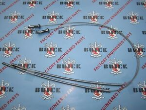 1951 1952 Buick Special Hood Release Cables pair Stainless Steel