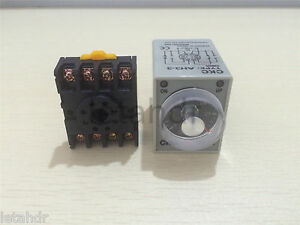 1 5set 12 24 110 220v Ah3 3 30s 60s 3min Power On Delay Timer Relay socket Base