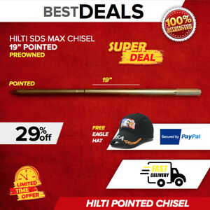 Hilti Chisel Pointed Sds Max 19 Preowned Free Extras Germany Fast Ship