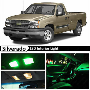 16x Green Led Lights Interior Package Kit 1999 2006 Chevy Silverado