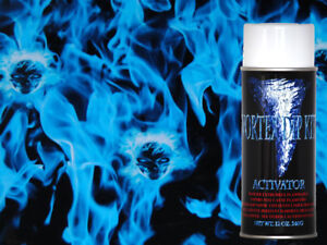 Hydrographics Film Activator Hydrodipping Water Transfer Embedded Blue Skulls