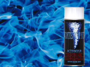 Hydrographics Film Activator Hydro Dipping Water Transfer Smoke Flames Blue