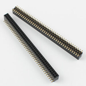 50pcs 1 27mm Pitch 2x40 Pin 80 Pin Female Double Row Smt Smd Pin Header Strip