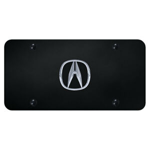 License Plate Chrome With Acura Logo On Black officially Licensed
