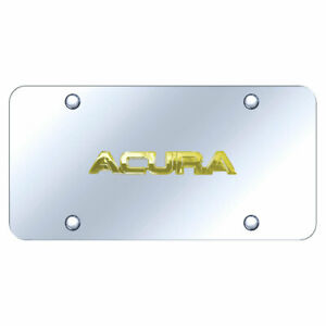License Plate Gold With Acura Name On Chrome officially Licensed