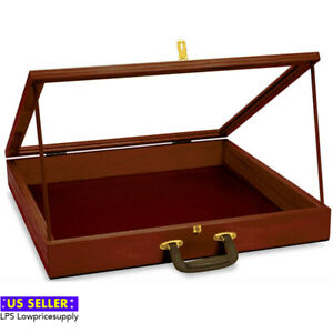 New Retail Portable Cherry Finish Wood Showcase 24 w X 36 l X 3 d Wholesale