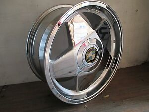 Borbet Wheel Type a 17x7 5 4x100 30 Chrome New W cap Bmw Logo