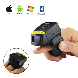 1d Bt fs01 Laser Barcode Scanner Wearable Cordless Bar Code Read For Ios Android