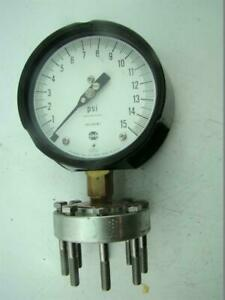 Solfrunt Pressure Gauge Max Psi 15 With Ametek Diaphragm