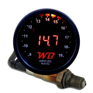 Wb D2 Digital Wideband O2 Air Fuel Ratio Controller Gauge Kit black red