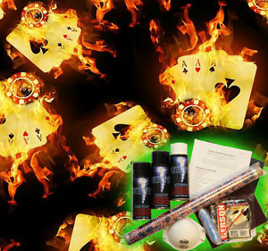 Hydrographics Dip Kit Activator Water Transfer Film Hydro Aces Of Fire A45