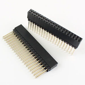 100pcs 2 54mm 2x20 Pin 40 Pin Female Double Row Long Pin Header Strip Pc104