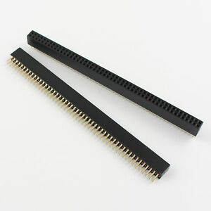 100pcs Pitch 1 27mm 2x50 Pin Female Double Row Straigh Pin Header Strip