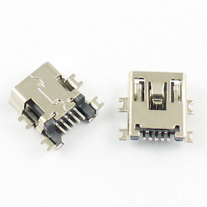 500pcs Mini Usb Type B 5 Pin Female Smt Smd Panel Mount Connector