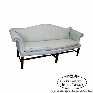 Antique Long Chippendale Style Sofa