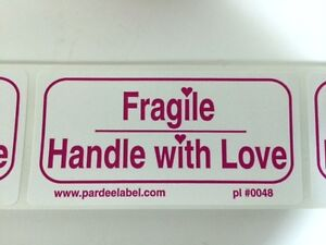 Fragile Handle With Love Labels stickers 100 2x4 Ebay Shipping Labels Ebay New