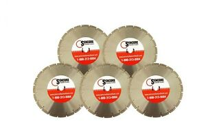 14 Segmented Diamond Saw Blades 5pk For Concrete Masonry Free Shipping
