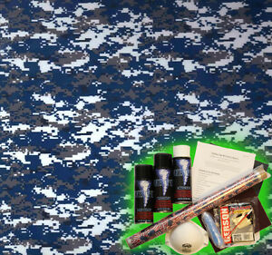 Hydrographics Dip Kit Activator Water Transfer Film Hydro Dipping Navy Digi 2
