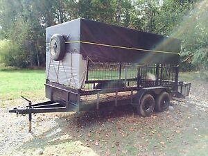 Heavy Duty Livestock Trailer 20 5 Long X 6 5 Wide 4 Ton Wild Hogs Pigs Ramp