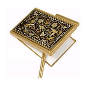 Damascene Gold Dove Of Peace Design Pocket Notepad By Midas Of Toledo Spain
