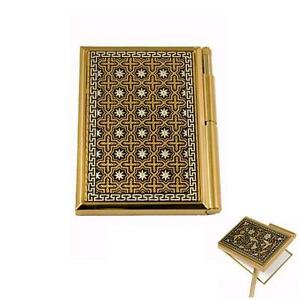 Damascene Gold Star Of Redemption Pocket Notepad By Midas Of Toledo Spain 8557