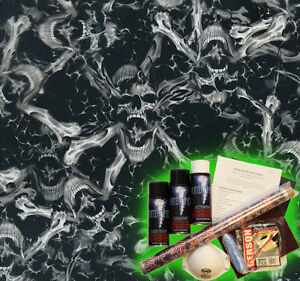 Hydrographics Dip Kit Activator Water Transfer Film Hydro Skull Bone