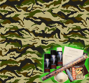 Hydrographics Dip Kit Activator Water Transfer Film Hydro Striped Camo A130
