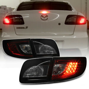 2004 09 Mazda 3 4dr Smoked Red Led Tail Light Smd Brake Signal Lamp Left right