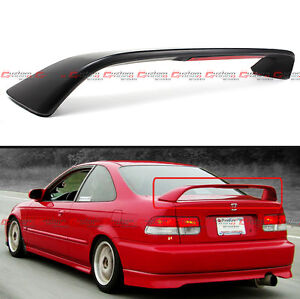 For 1996 00 Honda Civic 2dr Coupe Em Ej Si Trunk Spoiler Wing W Led Brake Light