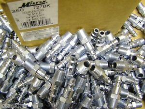 Milton 727 Air Line Hose Fittings Nipples M Style Full Case 250