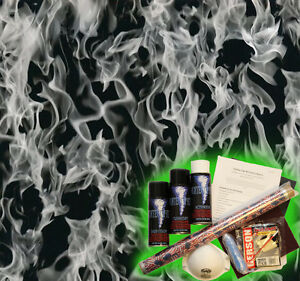 Hydrographics Dip Kit Activator Hydrodipping Hydro Dip Black Clear Flames