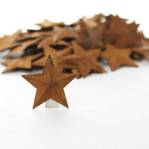 Lot Of 100 Rusty Barn Stars 1 5 Inch Rustic Primitive Country Rusted Ships Free