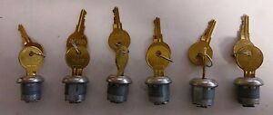 lot Of 6 Key hl302 W Lock For Use On toolboxes mailboxes desks safes
