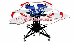 Four Color Four Station Silk Screen Printing Machine Press Diy T shirt Printer