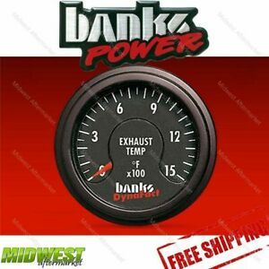Banks Power Dynafact Pyrometer Gauge Kit Includes Clamp On Probe