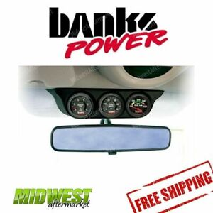 Banks Power Overhead Console Pod 3 Gauge Mounting Ford Super Duty