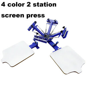 Economy 4 Color Screen Printing Press Machine Silk Screen T shirt Press Printer