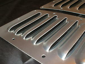 Pair Of 5 Aluminum Hood Bolt on Panels Cooling Jeep 4x4 7 Louvers By Rodlouvers