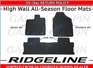 oem Honda Ridgeline High Wall All Season Floor Mat Set Mats 08p17 t6z 100