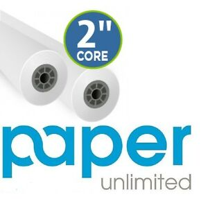 2 Rolls 24 x300 20lb Cad Bond Canon 2 Core Ipf Plotter Paper Bright White
