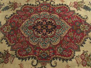 9 7 X 12 7 Genuine Handmade Antique 1930s Persian Oriental Wool Rug