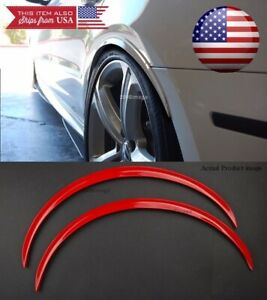 1 Pair Red 1 Flexible Arch Wide Fender Flares Extension Guard Lip For Ford