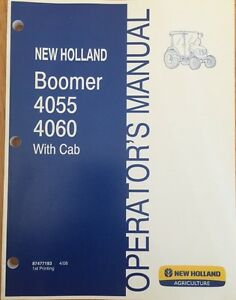 New Holland Boomer 4055 4060 Series With Cab Tractor Manual 87477193