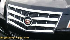 Cadillac Cts 2008 2009 2010 2011 Abs Chrome Grille Overlay Insert 8 Piece